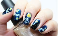 1 Sheet Nail Wraps Mysterious Starry Sky Night Patterned Full Nail Sti – gohappie.org