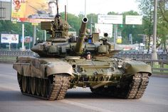 """Russian Army - Armor - """"T-72B3"""" - Second Generation Main Battle Tank – Armament: 1 x 125mm (2A46M/2A46M-5) Smoothbore Gun, 1 x 7.62mm (PKT) Coaxial Machine Gun and 1 x 12.7mm (NSVT) Anti-Aircraft Machine Gun – 2,284 in Active Service with 8,000 in Reserve - Produced from (1971-Present)"""