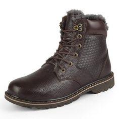 Warm Lace Up Plush Snow Boots   Furrple