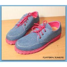 Sepatu Platform Jeans 02