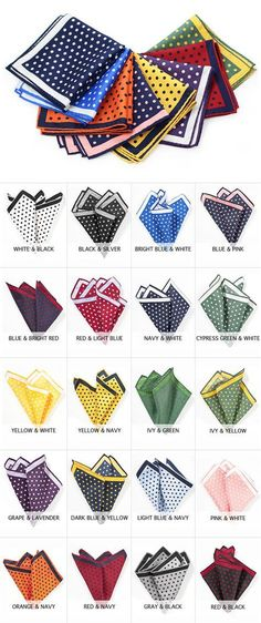 Large Polka Dot Pocket Squares - Oversized Pocket Squares with Polka Dots