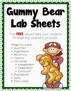 Corkboard Connections: Investigating Gummy Bears - Guest blog post by Amy Alvis with a gummy bear lesson to teach the scientific method