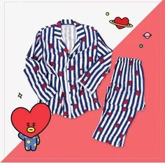 Official BTS x Line Friends Pajamas - Gotamochi is the BTS Kpop Merch and Kawaii Clothes Aesthetics Store - Shop our largest selection of Kpop and Kawaii Apparel Material: Cotton Line Friends Pajamas are the cutest things ever!
