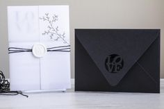 Clean Modern Black and White Wedding Invitation Suite - Mindy & Danny Lavender Wedding Invitations, Black And White Wedding Invitations, Minimalist Wedding Invitations, Destination Wedding Invitations, Acrylic Wedding Invitations, Unique Wedding Invitations, Wedding Invitation Suite, Handfasting, Flat Lay