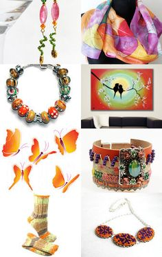Orange comby's by Alice Loopeker on Etsy--Pinned with TreasuryPin.com