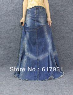 Denim Skirts Long Length