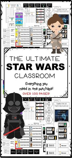 The Ultimate Star Wars Classroom! Everything you need in one purchase. Over 100 pages!