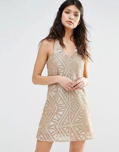 River Isand Embellished Cami Dress