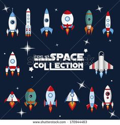 Spaceship vector. - stock vector