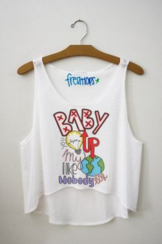 Baby you light up my world like nobody else Fresh-Tops Crop Top | fresh-tops.com love this top