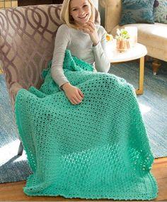Staying Home Crochet Blanket | AllFreeCrochetAfghanPatterns.com