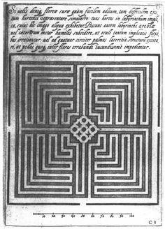 G.B. Ferrari - design for a garden labyrinth da: il libro dei labyrinth di Paolo Santarcangeli
