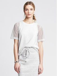 Perforated Mesh Top // Banana Republic - $59.50