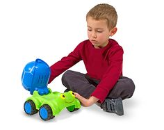 Scootin' Turtle Cement Mixer Toy | Toys for 12-24 month olds | Melissa and Doug