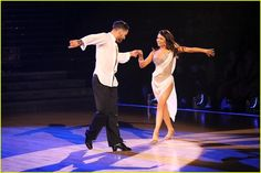 dwts janel  | ... his partner janel parrish down during their dancing with the stars