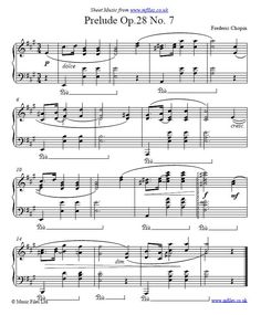 Frederic Chopin : Prelude No. 7 in A - piano sheet music, midi and Download Sheet Music, Printable Sheet Music, Free Sheet Music, Wedding Dance Songs, First Dance Songs, Wedding Music, Wedding Playlist, Piano Sheet Music Classical, Piano Music