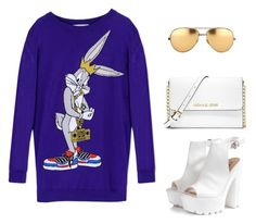 """""""Untitled #1871"""" by teodoragucunski ❤ liked on Polyvore featuring Moschino, Glamorous, MICHAEL Michael Kors and Linda Farrow"""