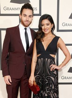 Pin for Later: Celebrity Couples Show Lots of Love at the Grammys Michael and Carissa Alvarado