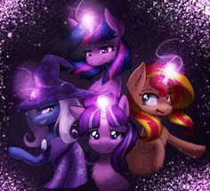 my little pony,Мой маленький пони,фэндомы,Twilight Sparkle,Твайлайт Спаркл,mane 6,Starlight Glimmer,minor,Sunset Shimmer,Сансет Шиммер,Trixie,mlp art