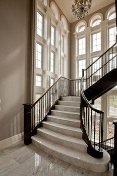 Fourteen Estates Lot 15 - traditional - staircase - toronto - Deluxe Stair & Railing Ltd
