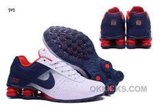 new arrival 23b8c b0983 NIKE SHOX DELIVER 2016 MENS SHOE DARK BLUE WHITE RED NEW STYLE E5BSYJ Only   66.05 ,