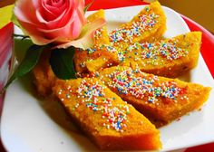 Bojo - Is a rich flourless cake made from grated coconut and cassava. Cassava is a starchy root plant, also known as manioc and yuca. Bojo is flavored with rum and cinnamon, and as is typical of many South American desserts