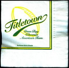 LOT OF 3 2004 GREEN BAY PACKERS TITLETOWN NAPKIN SCHEDULES FREE SHIPPING #SCHEDULE
