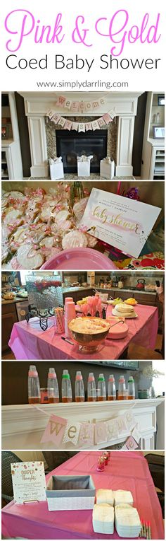 This Pink & Gold themed Coed Baby Shower turned out absolutely stunning! They actually had FUN games and some pretty amazing prizes. Check out the decor and activities that was put together to celebrate a new baby girl.