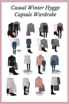 Winter Hygge Capsule Wardrobe - The Organised Life Project Capsule Wardrobe 2018, Fall Wardrobe, Winter Wardrobe Essentials, Core Wardrobe, Travel Wardrobe, Wardrobe Ideas, French Minimalist Wardrobe, Minimalist Fashion, Minimalist Closet