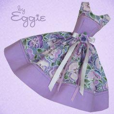 Pretty Pansies- Vintage Barbie Doll Dress Reproduction Repro Barbie Clothes