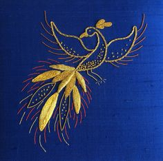 Basic Goldwork - Brenda Prentice | by Love Stitch! Gold Embroidery, Embroidery Patterns, Machine Embroidery, Gold Pattern, Pattern Design, Gold Work, Cutwork, Metallic Thread, Embroidery Techniques