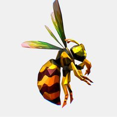 Buy Animated Low Poly Art HoneyBee by olegshuldyakov on 2163 triangles png pixel texture size Low Poly Art HoneyBee Art animation, stylization, presentation. Humble Bee, Nature 3d, Low Poly, Tag Art, Design Tutorials, Animation, Graphics, Graphic Design, Animation Movies