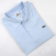 1358888b635a Men's Lacoste Polo Short Sleeve Shirt Light Blue Cheap Polo Shirts, Lacoste  Polo Shirts,