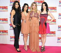 "Selena Gomez,Vanessa Hudgens,Ashley Benson & Rachel Korine attended the ""Spring Breakers"" screening in Rome,Italy on Feb.22,2013"
