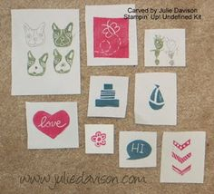 Undefined Stamp Carving Kit from Stampin' Up!: Practice Stamps by Julie Davison, http://juliedavison.com