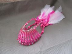 Car accessories for women ,Pink Feather Headdress, Beaded car charm ,Dream catcher, Hot pink car accessories ,New car gift ,Stocking stuffer by JanetJcrafts on Etsy