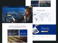 Website for an Investment Company by Magdalena Ciborowska Small Caps, Corporate Website, Investment Companies, Investing, Web Design, Marketing, Site Design