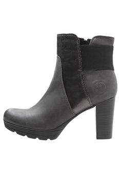 High heeled ankle boots - grey antic