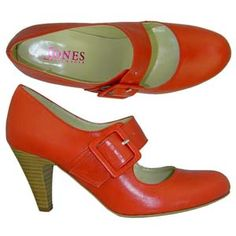 Charlie 4 - Red Patent A fashionable court shoe from Jones Bootmaker. Features a wide Mary-Jane style strap with working buckle, high wooden effect heel and an almond shaped toe. http://www.comparestoreprices.co.uk/womens-shoes/charlie-4--red-patent.asp