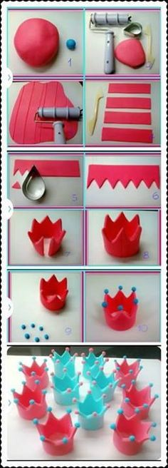 fondant crown cupcake topper tutorial