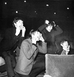 The Beatles imitates their fans....