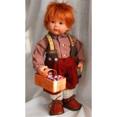 POUPEE MÜLLE WICHTEL GARY - poupée de collection de Rosemarie Müller