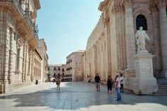 Syracusa, in Sicily, Italy - the birthplace of mathematician and engineer Archimedes