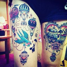 Hot Air Balloon tattoos @ Once Upon a Time in Neverland tattoo