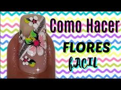 ♥Como hacer una flor Uñas/How to make a flower Nails Manicure Y Pedicure, Flower Nails, Toe Nails, Nail Designs, Lunch Box, Flowers, How To Make, Youtube, Goku