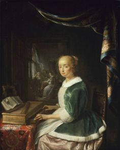 Gerrit Dou's A young Lady playing the Virginal