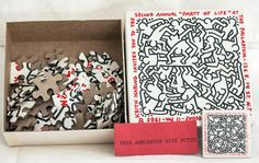"Puzzle invite to Keith Haring's second ""Party of Life"" at The Palladium"
