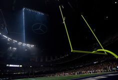 The Superdome is seen after the lights went out during the second half of NFL Super Bowl XLVII football game Sunday, Feb. 3, 2013, in New Orleans. (AP Photo/Marcio Sanchez) Photo: Marcio Sanchez, ASSOCIATED PRESS