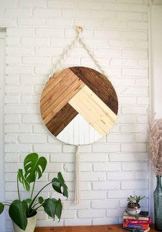 wood wall hanging boho - - Refresh your home decor with this Stratton Home Decor Hanging Boho Wood Wall Art. Diy Wooden Wall, Wooden Decor, Wood Wall, Diy Wand, Hanging Wall Art, Diy Wall Art, Handmade Home, Scrap Wood Art, Boho Dekor