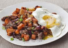Sausage, Sweet Potato and Bell Pepper Hash | Serve topped with a fried or poached egg for an extra splash of flavor.